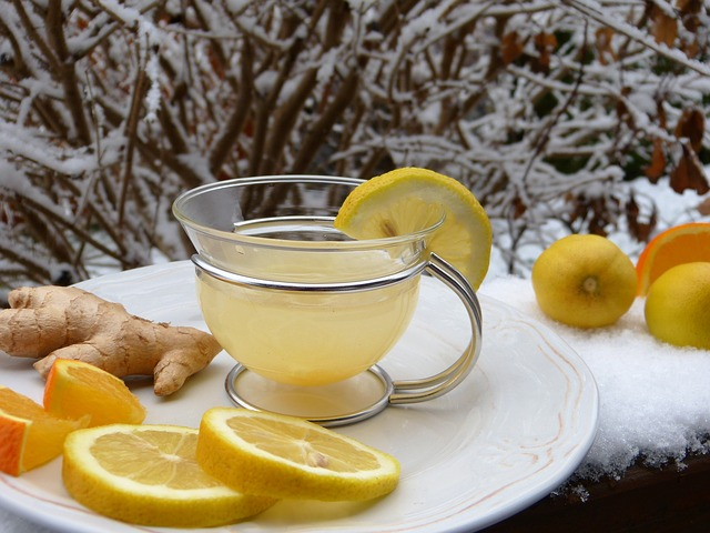 DOmowe sposoby Herbata z imbirem i cytryną