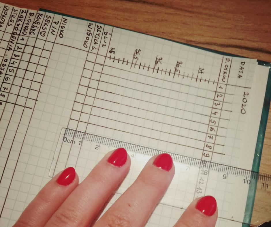 zeszyt czerwone paznokcie